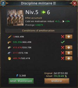 Recherche discipline militaire vers 6