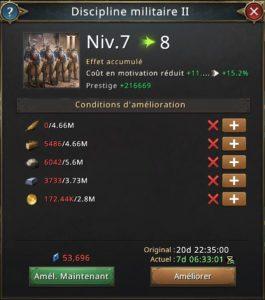 Recherche discipline militaire vers 8