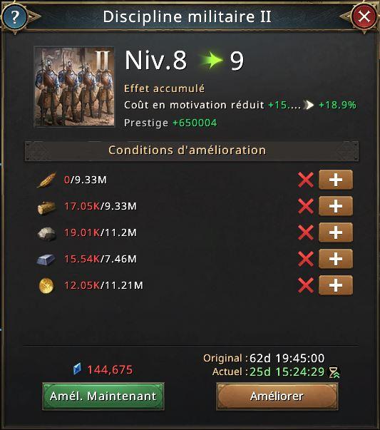 Recherche discipline militaire vers 9