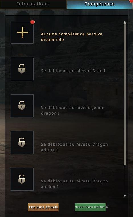 Compétences du 2e dragon