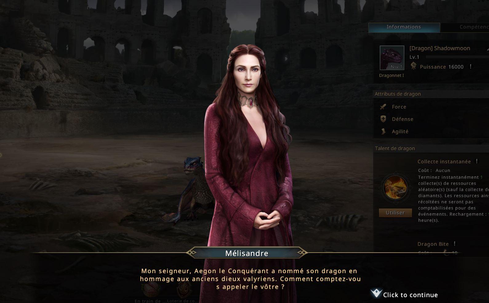 Mélisandre propose de renommer le dragon