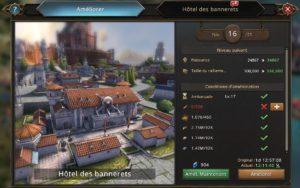 Evolution de l'Hôtel des bannerets vers le niveau 17