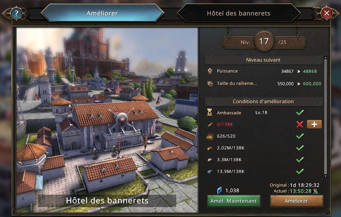 Hôtel des Bannerets vers le niveau 18