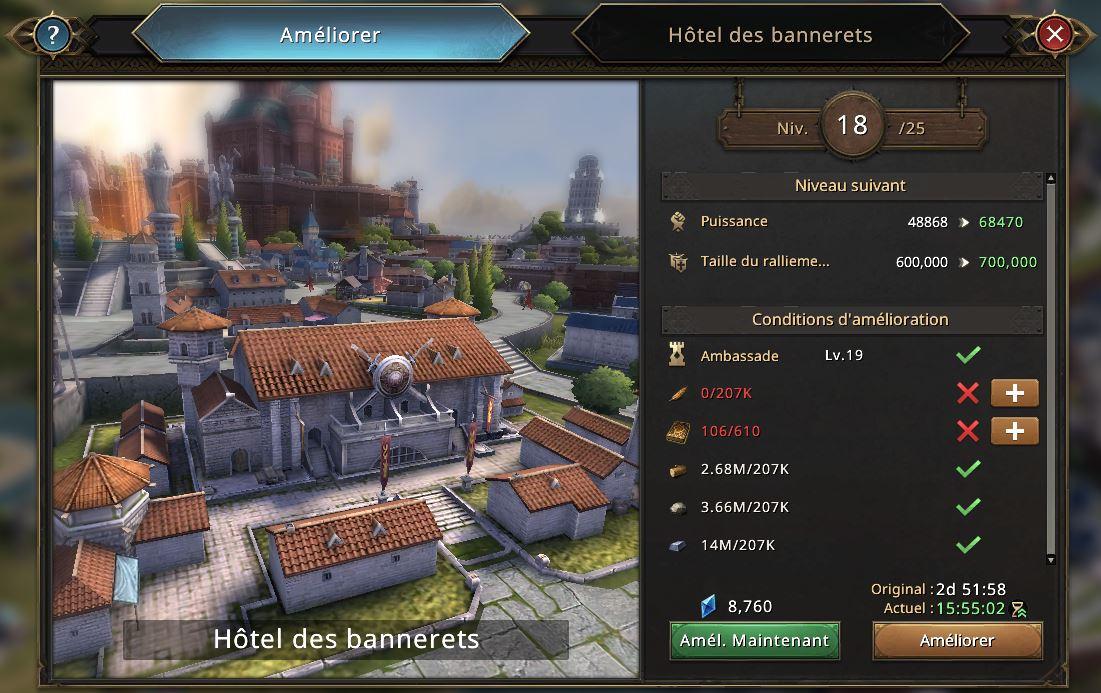 Hôtel des Bannerets vers le niveau 19