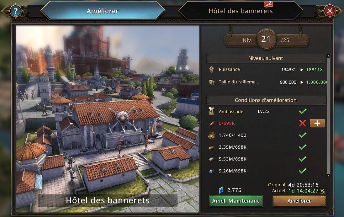 Hôtel des Bannerets vers le niveau 22
