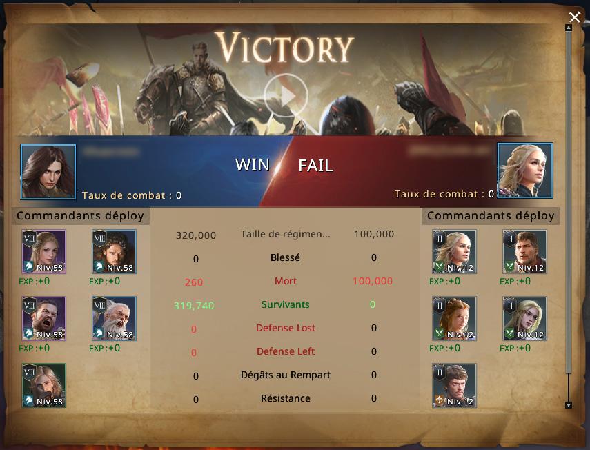 Rapport de victoire