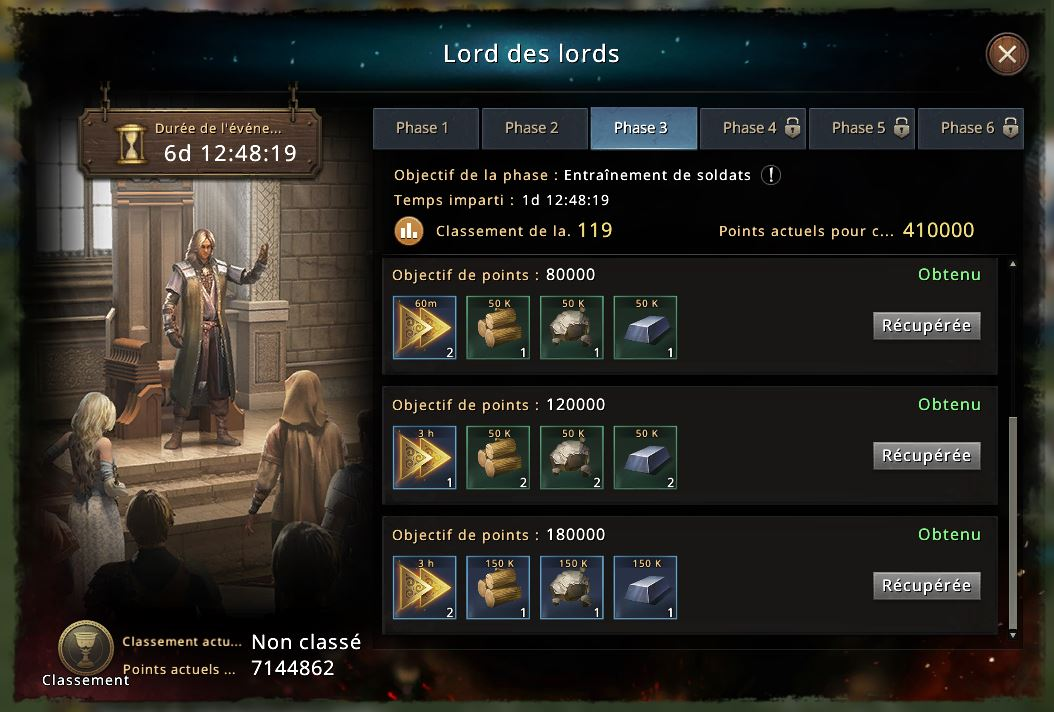 Phase 3 du Lord des Lords
