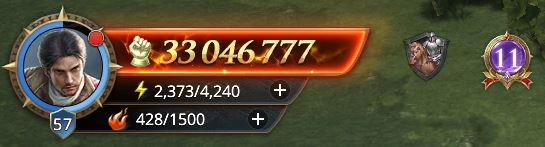 Lord niveau 57 avec 33 046 777