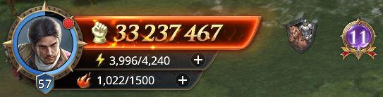 Lord niveau 57 avec 33 237 467 de prestige