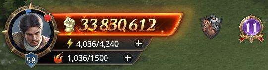 Lord nvieau 58 avec 33 830 612 de prestige
