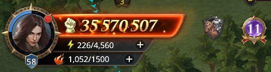 Lord niveau 58 avec 35 570 507 de prestige