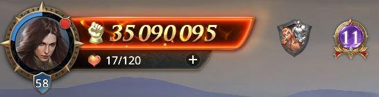 Lord niveau 58 avec 35 090 095 de prestige