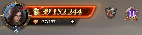 Lord nvieau 58 avec 39 152 244 de prestige