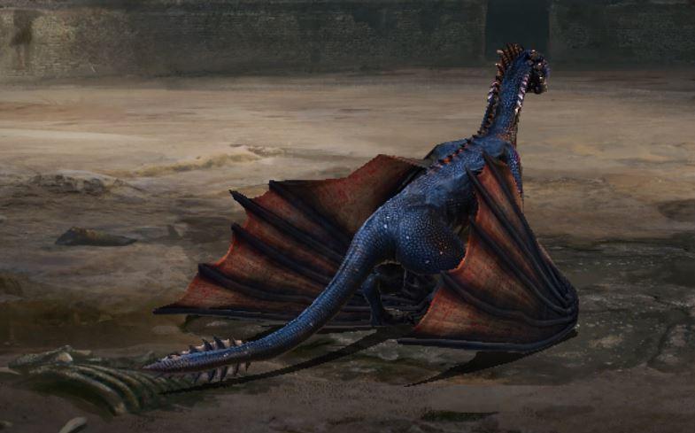 Jeun dragon de dos