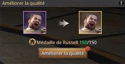 150 médailles de Russel