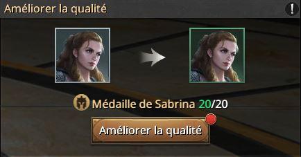 20 médailles de Sabrina