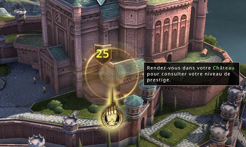 Amélioration du niveau de prestige du château