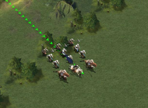 Déplacement des troupes vers le points de tir