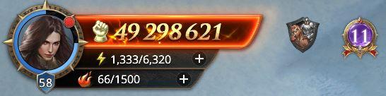 Lord niveau 58 avec 49 298 621 de prestige