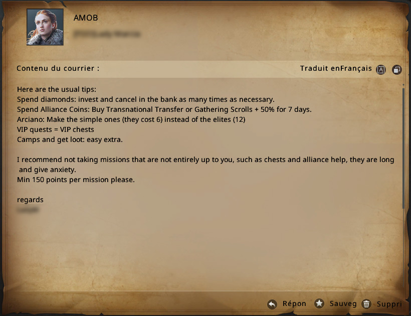Liste de quêtes pour le Mobilisation d'alliance