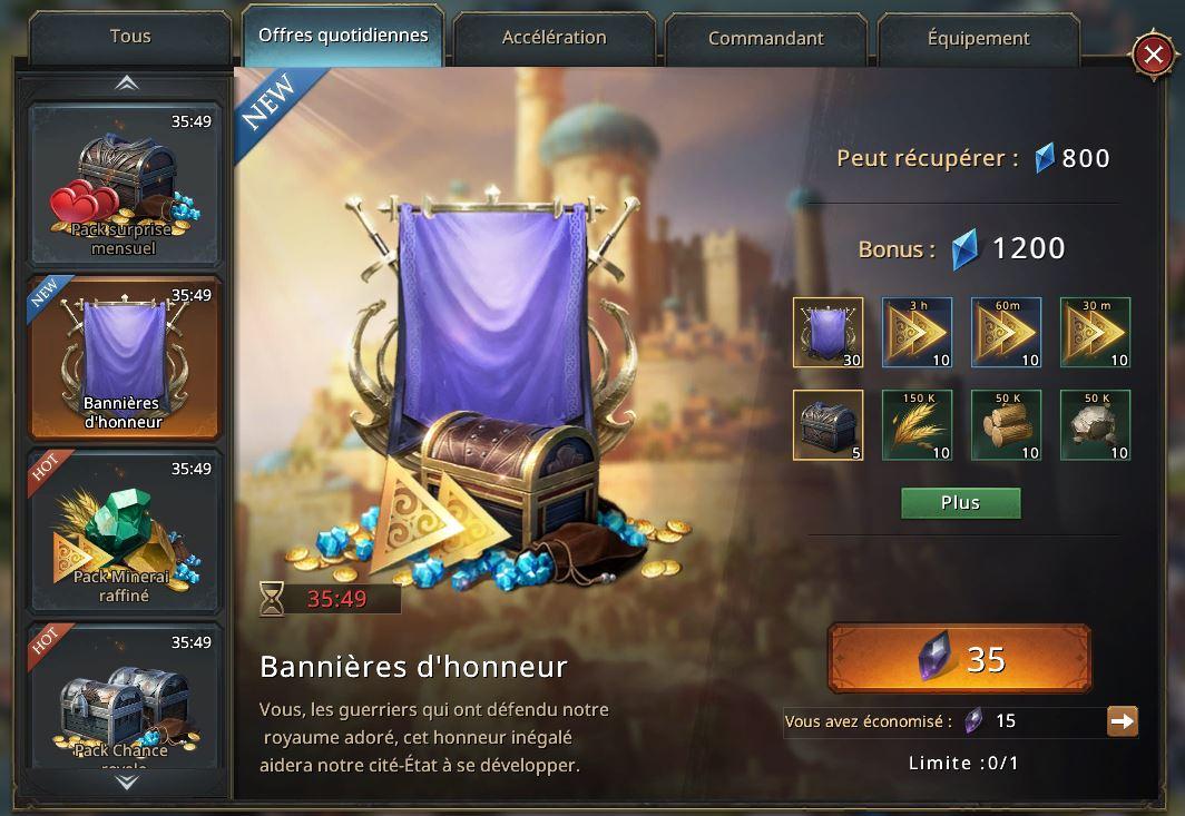 Pack bannières d'honneur