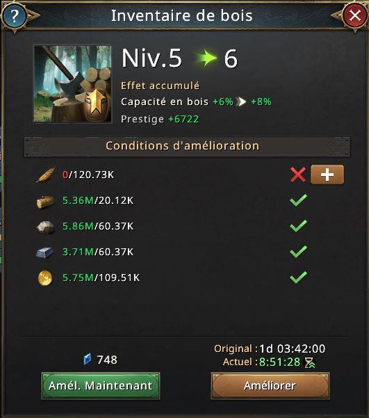 Recherche inventaire de bois vers 6