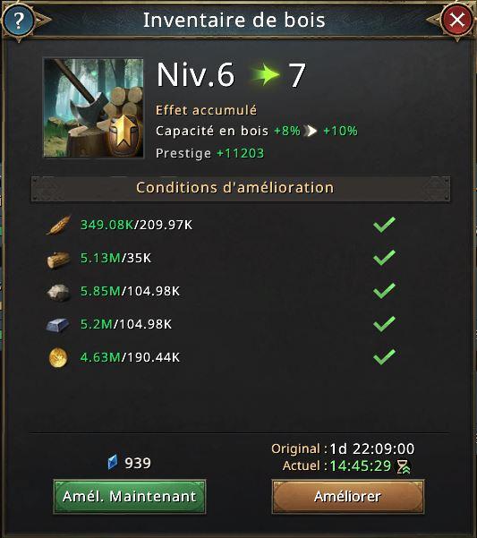 Recherche inventaire de bois vers 7
