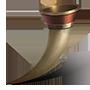 Coupe d'ivoire plaquée or