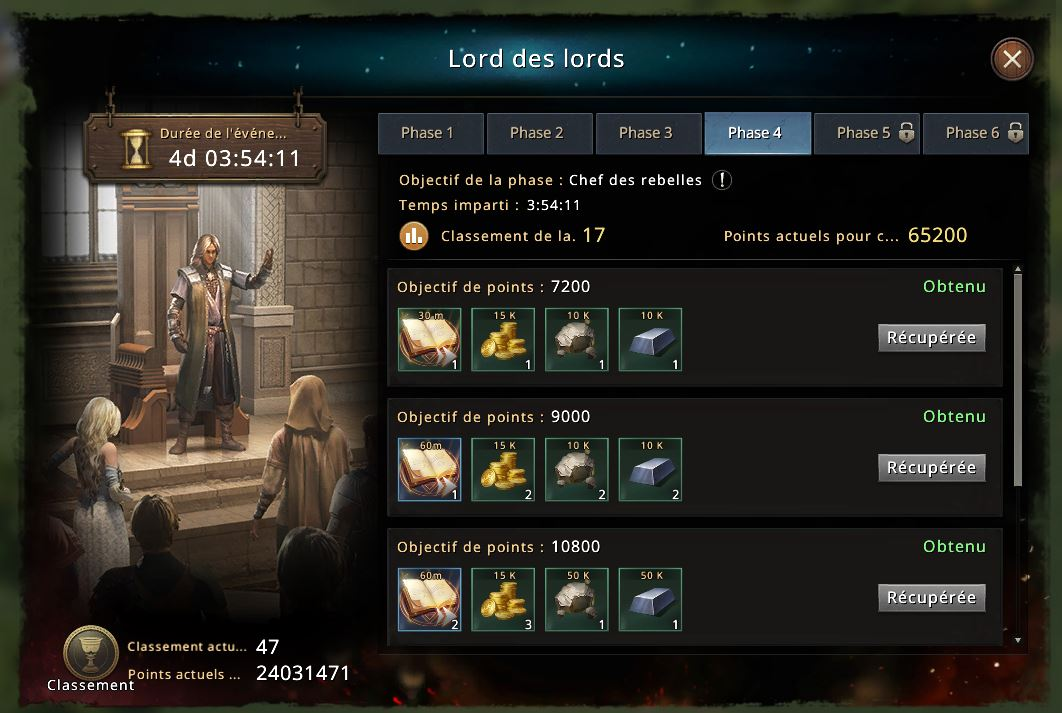 Phase 4 du Lord des Lords