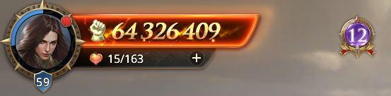 Lord niveau 59 avec 64 326 409 de prestige