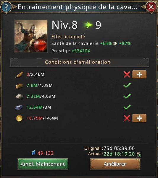 recherche entraînement physique de la cavalerie vers 9