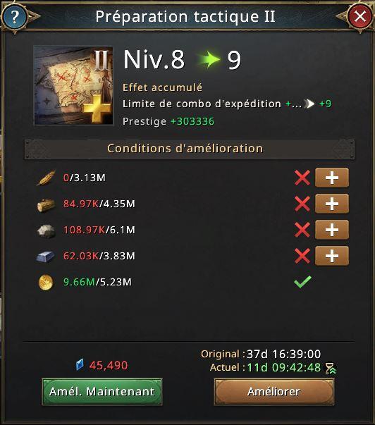 Préparation tactique II vers 9