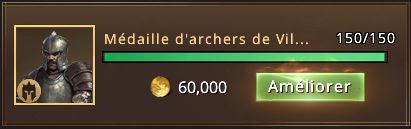 150 médailles d'archers de Villevieille
