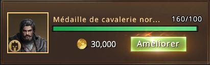 160 médailles de cavalerie nordienne