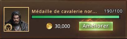 190 médailles de cavalerie nrodienne