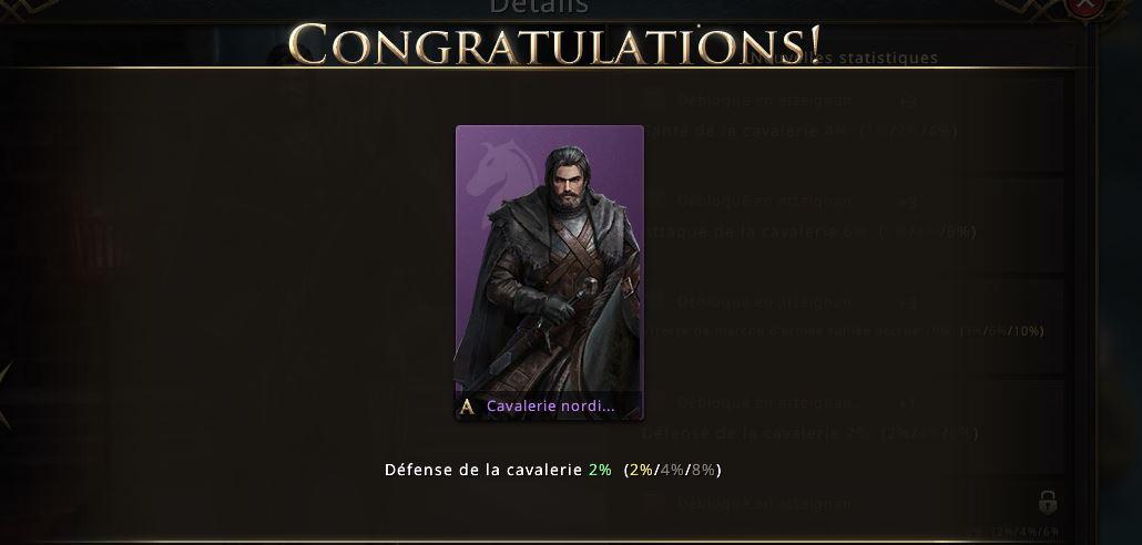Cavalerie nordienne niveau violet