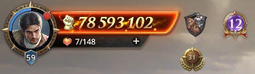 Lord niveau 59 avec 78 593 102 de prestige