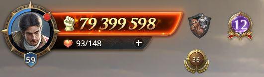 Lord niveau 59 avec 79 399 598