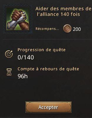 Mobilisation d'alliance aider 140 fois