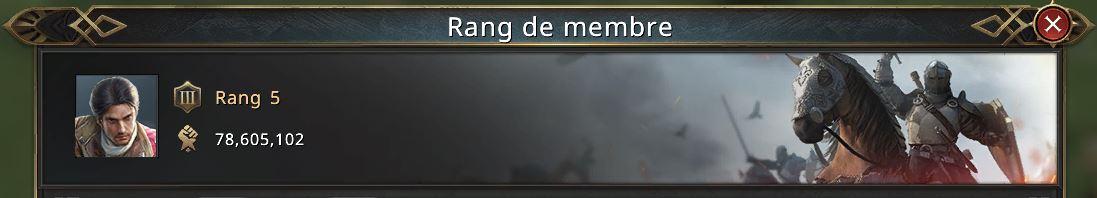 Rang de membre
