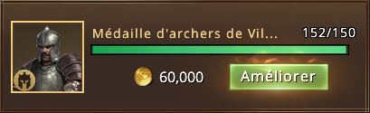 152 médailles d'archers de Villevieille