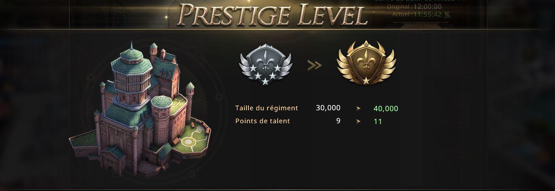 Château niveau de gloire 6