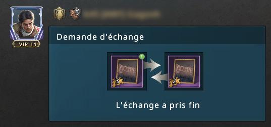Demande d'échange terminée