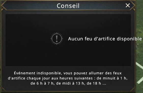 Tirage impossible