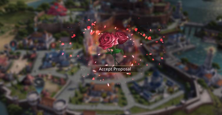 Accepter la proposition de mariage