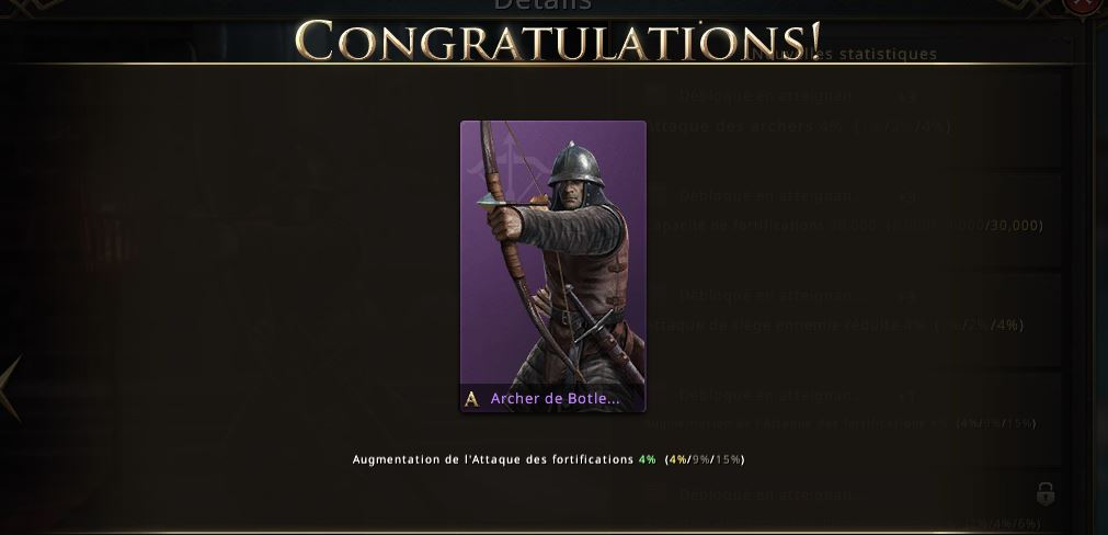 Apparence d'archers de Botley niveau violet