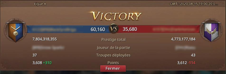 Victoire à la Conquête d'Alliance
