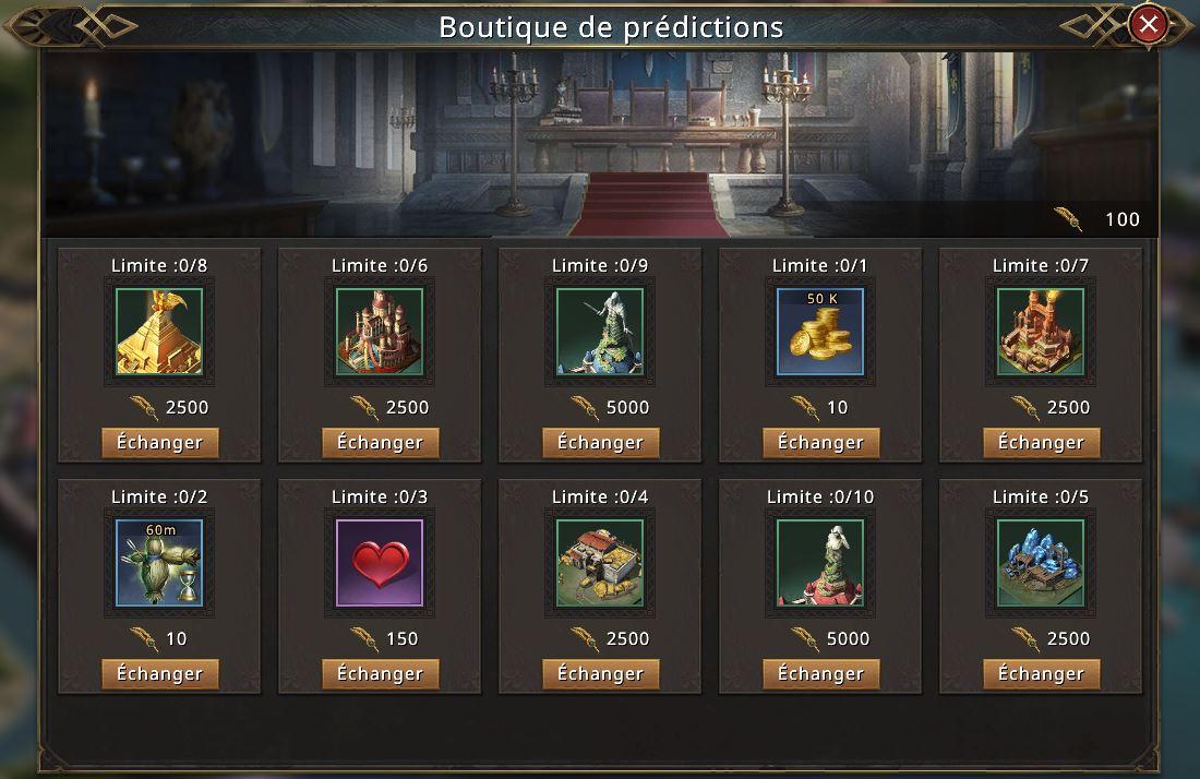 Boutique de prédiction