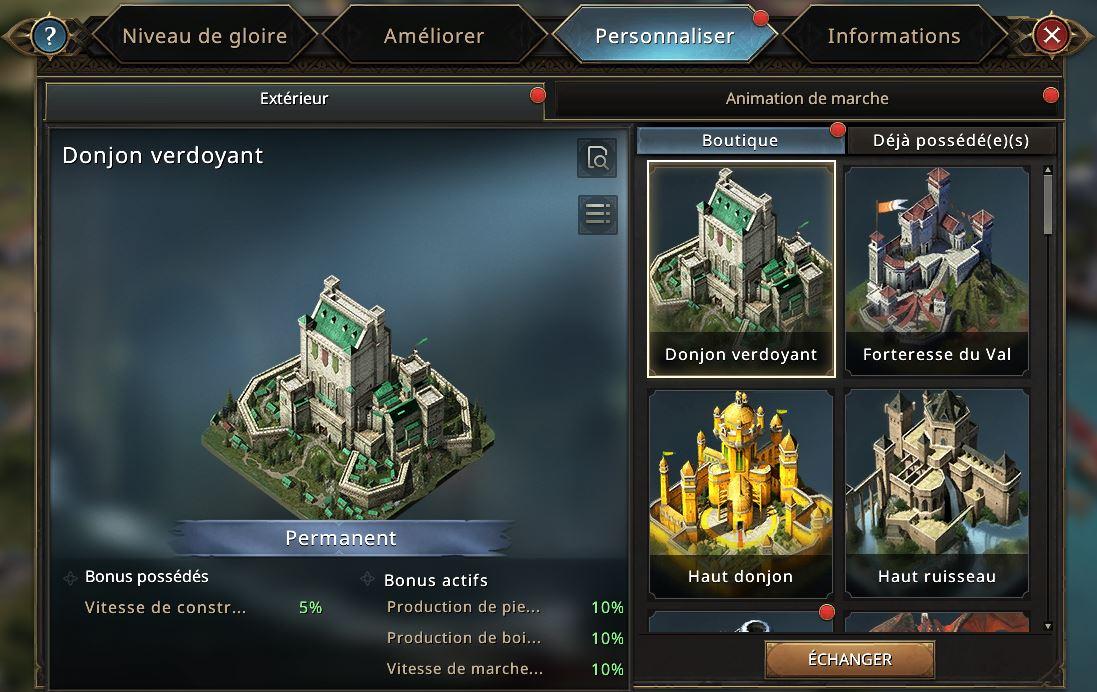 Extérieures de château