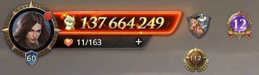 Lord niveau 60 avec 137 664 249 de puissance